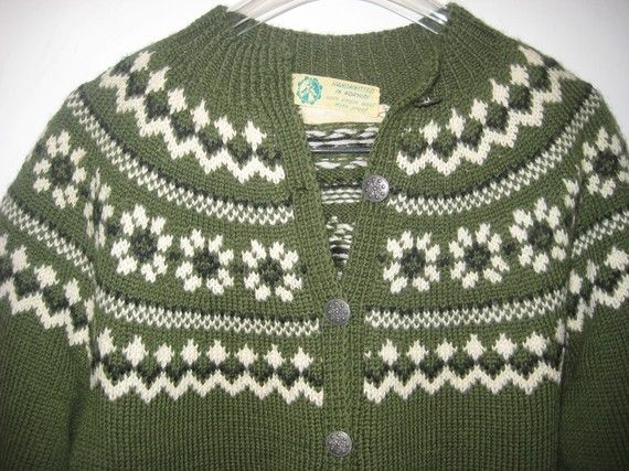 norwegian sweater cardigan