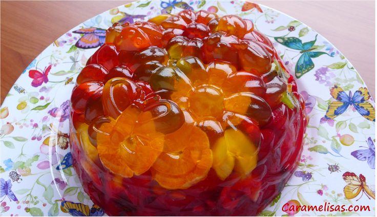 Caramelisas: Tarta de frutas con gelatina (jelly fruit cake)