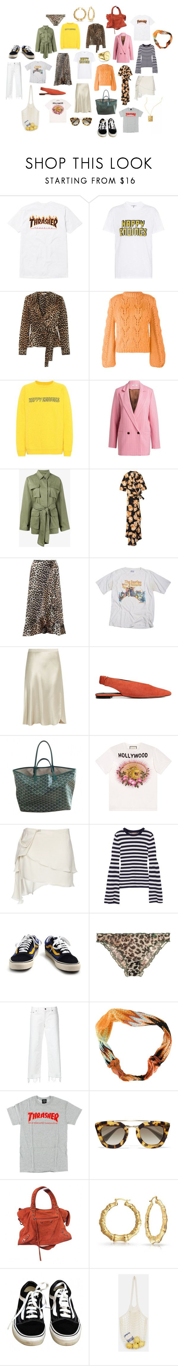 """Untitled #234"" by fashiondisguise on Polyvore featuring Ganni, Nili Lotan, Gucci, Acne Studios, Michael Kors, Vans, LoveStories, Simon Miller, Missoni and Prada"
