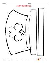 Printable leprechaun hat kids can color & wear for St. Patrick's Day! #freeprintables #coloringpages