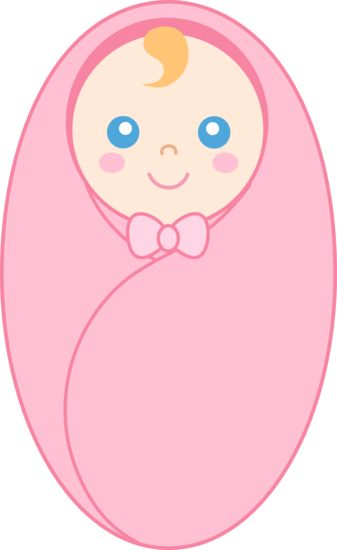 Swaddled Baby Girl Clipart