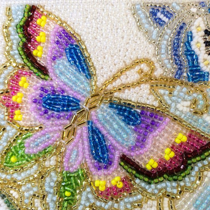 Bags made of beads embroidery