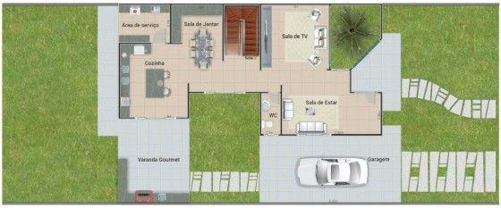 Plano de casa de dos pisos tres dormtorios