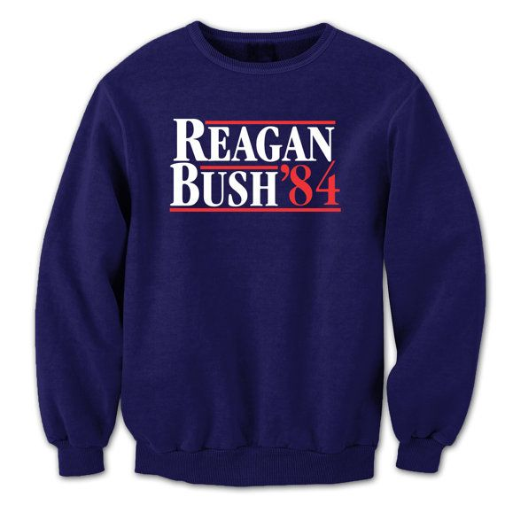 REAGAN Bush 84 - funny cool hip retro ronald george presidents '84 1984 republican party election rnc new - Unisex Navy SWEATSHIRT DT0028
