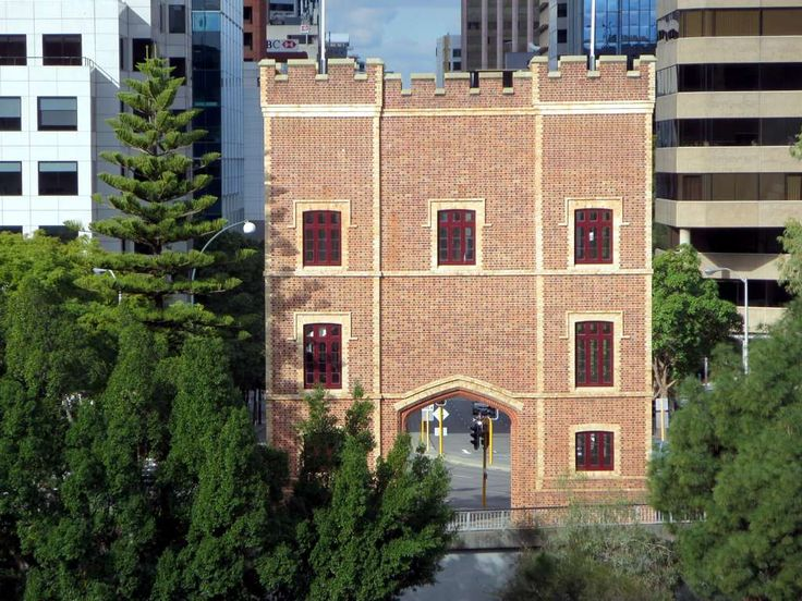 The Barracks Arch (1866) in Perth, Western Australia, is the sole remaining portion of the Pensioner Barracks originally used to house prison guards.