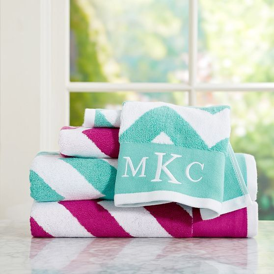 Best Girls Towels Images On Pinterest Embroidery Ideas - Personalized bath towels for small bathroom ideas