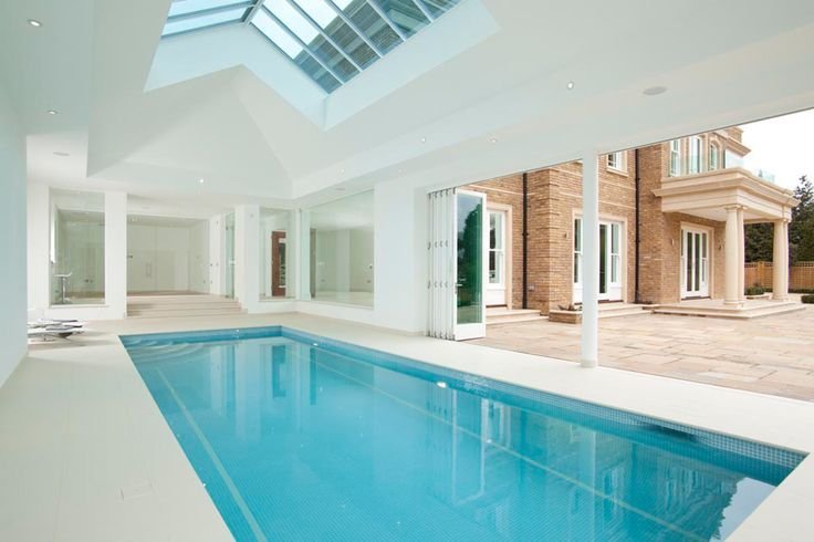 309 best indoor pool designs images on pinterest for Indoor swimming pool construction