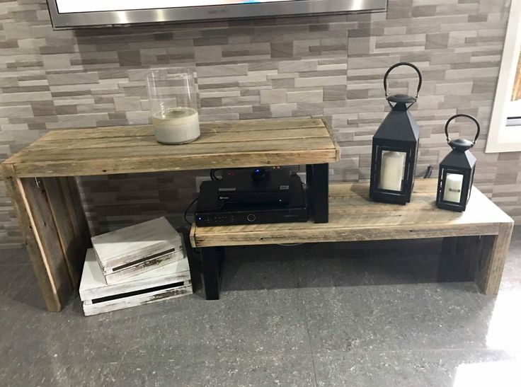 Recycled Timber industrial entertainment unit made by recycledtimberfurnitureoz.com