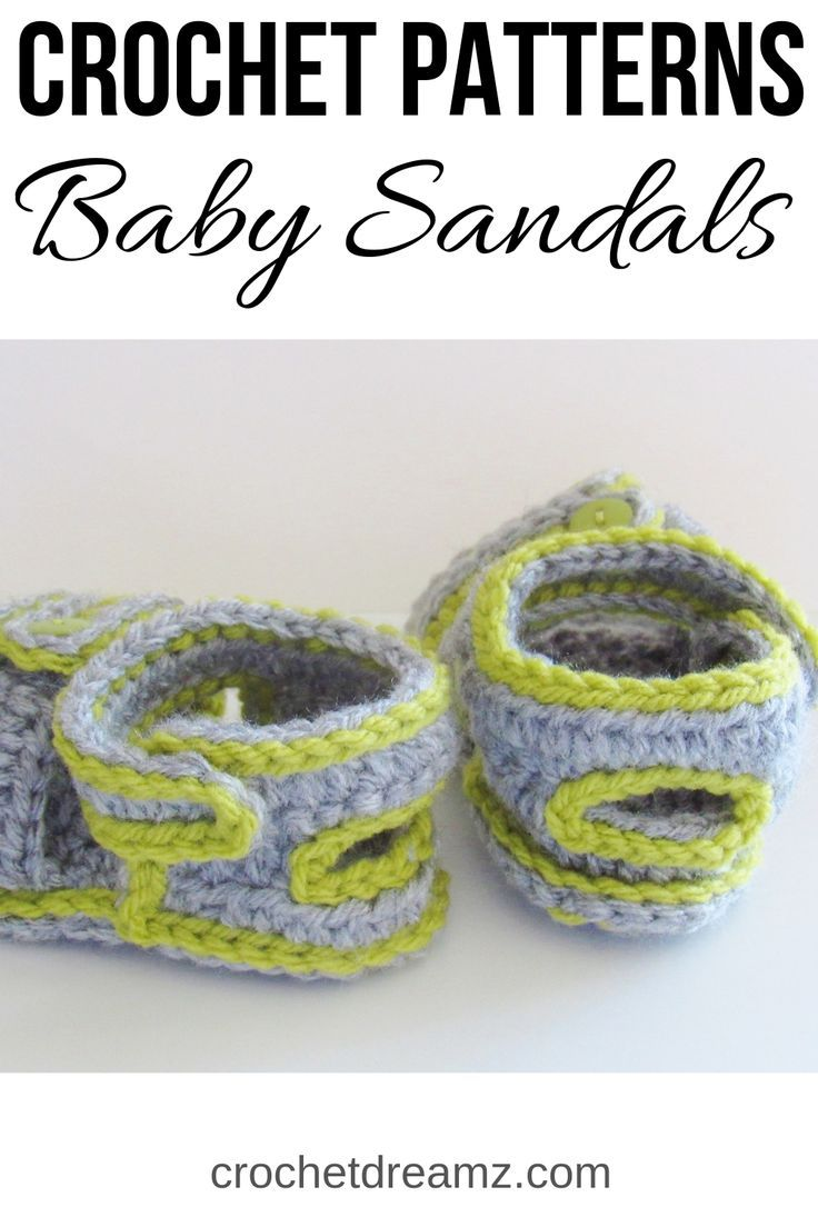 12614073b490e Sporty Sandals for Boys or Girls Crochet Baby Booties Pattern( pdf ...