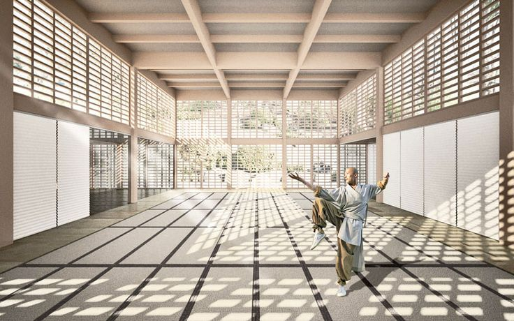 japanese dojo interior architecture - Architecture and Design