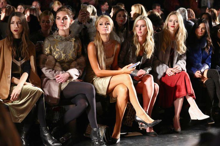 Hilary Rhoda, Paris Hilton, Nicky Hilton Rothschild, Johanna Braddy, and Diane Guerrero