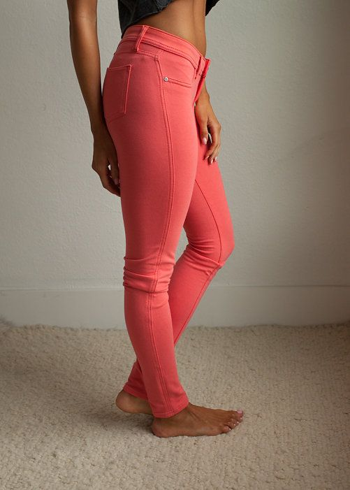 Online boutique. Best outfits. Most Favored Coral Fitted Jeggings - Modern Vintage Boutique