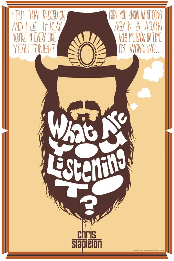 "Chris Stapleton ""Wondering"" Poster by Anthony Errickson, via Behance"