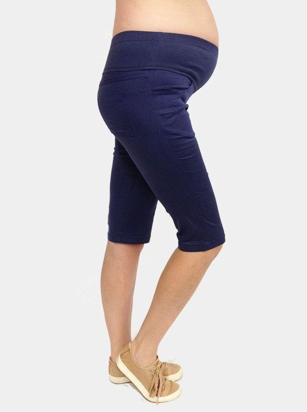 Cotton Maternity Shorts in Navy | 3 Bears