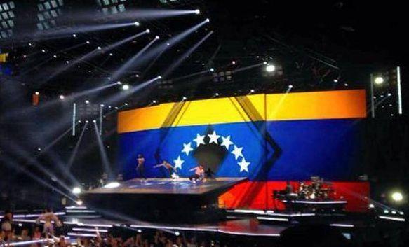La bandera de Venezuela que se hizo presente en un concierto de Madonna (FOTOS)