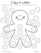 Alphabet activities:  FREE gingerbread-themed worksheets for PK-1st.