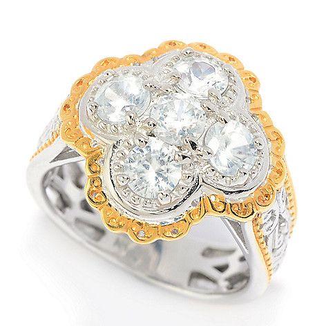 157-503 - Gems en Vogue Choice of Design 2.00ctw White Zircon Five-Stone Ring