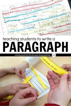Paragraph writing is one of the three main writing strands for 1st grade. Our six-year old friends are expected to be able to introduce a topic, give and explain a detail, and then, wrap-up their thinking.