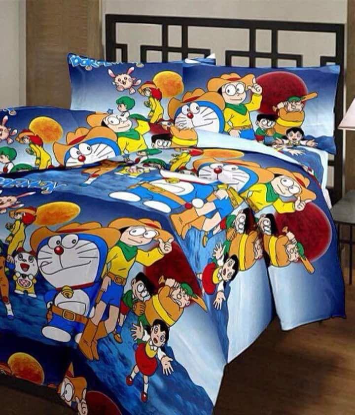 Doremon cotton bedsheets