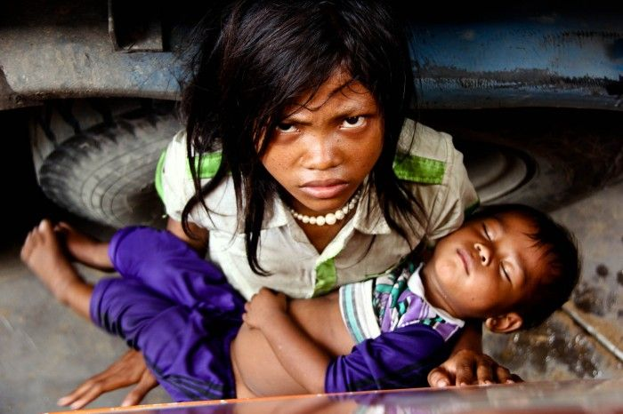 Anger in the Eyes of Cambodian Kids by Ryan Farahani | onemillionphotographers
