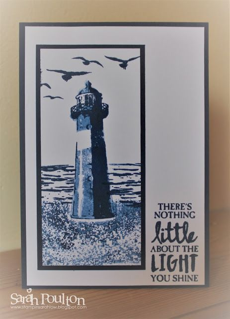 A High Tide Night of Navy 'Just Because' Card from Stampin' Up! UK Demonstrator Sarah Poulton