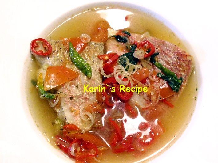 IKAN KUAH ASANG merupakan masakan khas daerah Manado. Masakan ini berbahan dasar ikan kakap.
