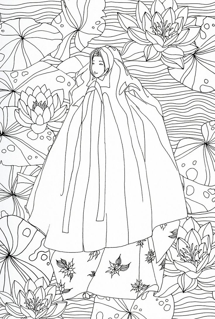 adult coloring page : Japan