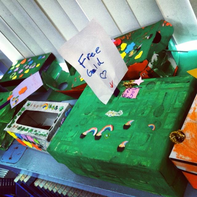 Leprechaun traps in First Grade