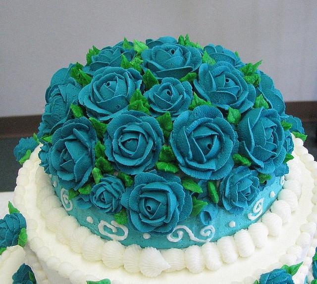 The Dream Wedding Inspirations: Turquoise Wedding Cakes Design Ideas