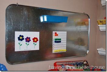 oil pan magnet board in play room2