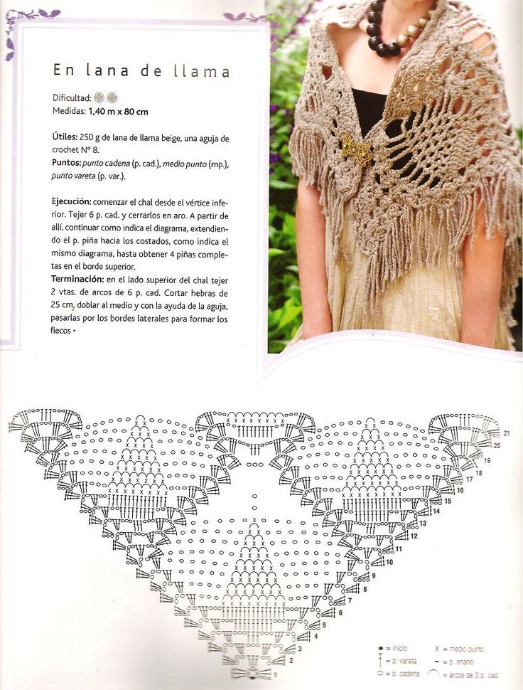 1139 best Crochet shawls images on Pinterest | Shawl, Scarfs and ...
