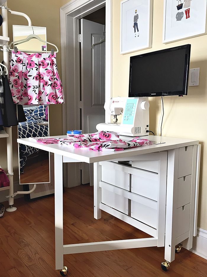 Ikea Norden Table Hack Sewing Table Sewing Room