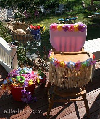 First Birthday Luau party ideas