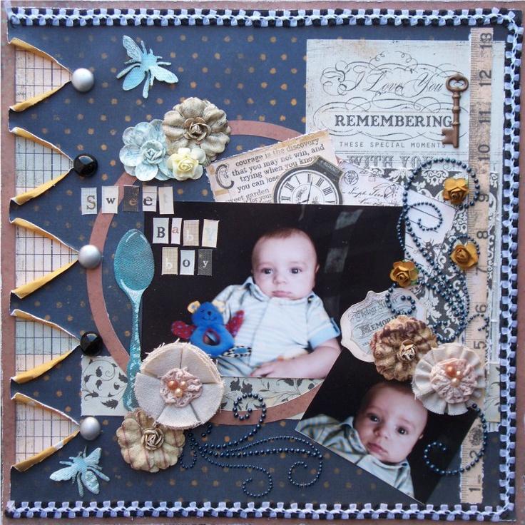 Scraps of Darkness *Feb Kit* ~ Sweet Baby Boy - Scrapbook.com