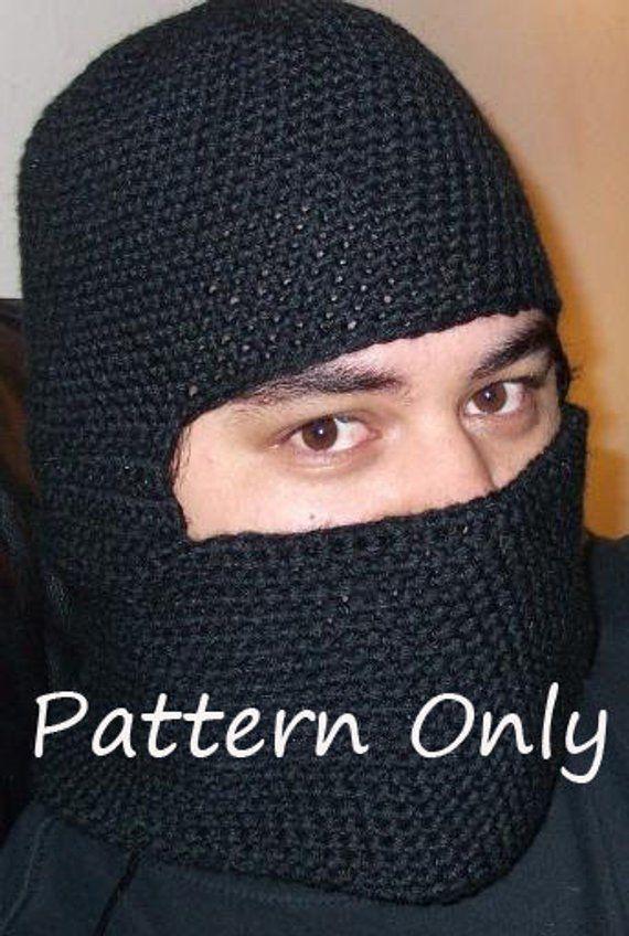 Crochet Balaclava Riding Hood Ski Mask Ninja Mask Pattern Pdf