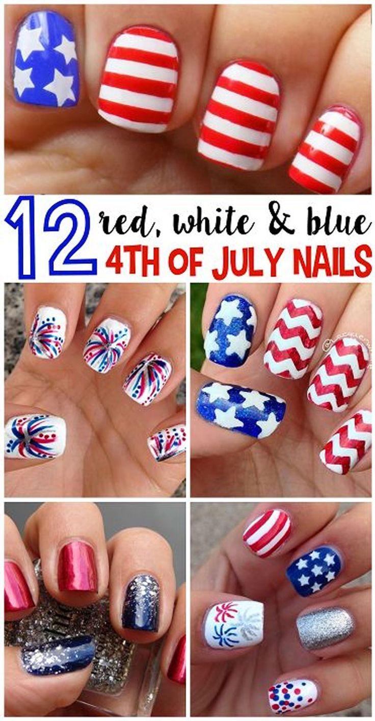 nail art tutorials #4thofjuly #july4th #nail art