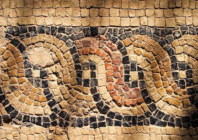 Near the Paphos harbor are the excellently preserved mosaic pavements of the Villa of Dionysos, among the finest in the Mediterranean area. The mosaics, which mainly depict scenes from Greek mythology, were accidentally discovered by a farmer plowing his field.