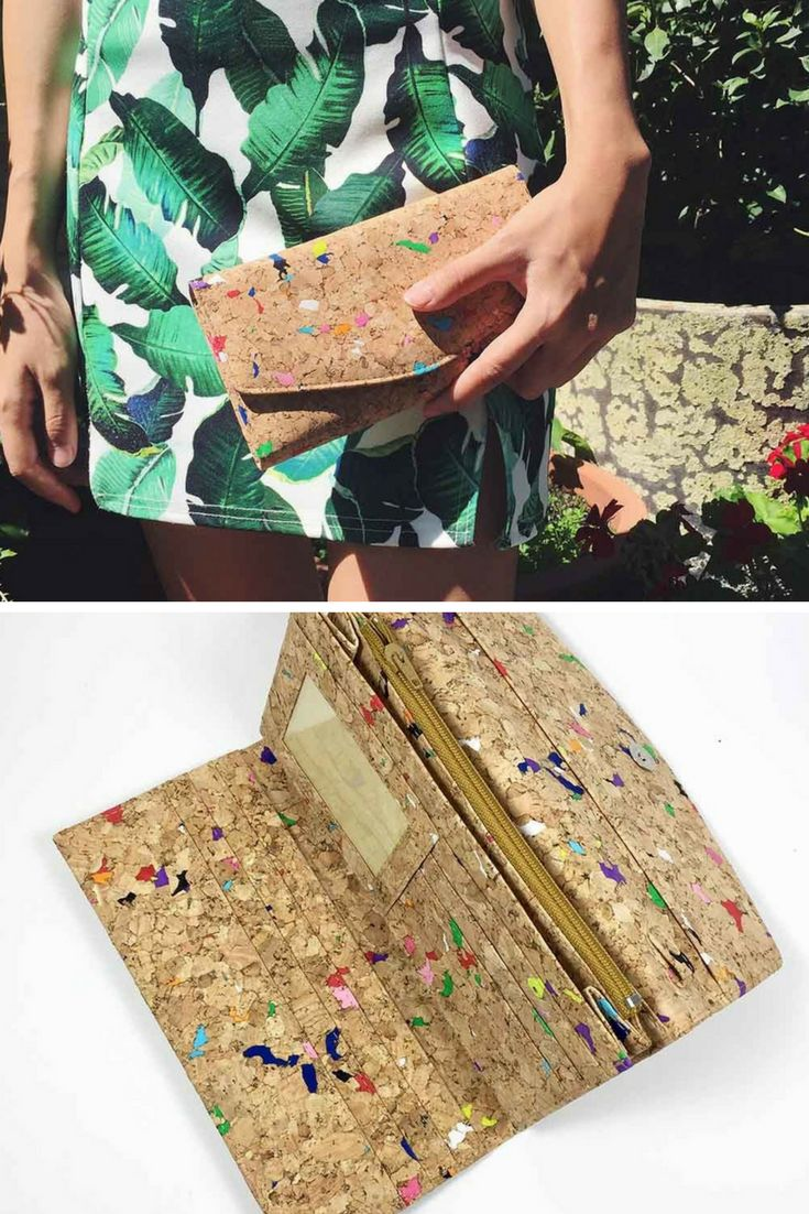These cork bags are sustainable using the bark of the tree, which grows back