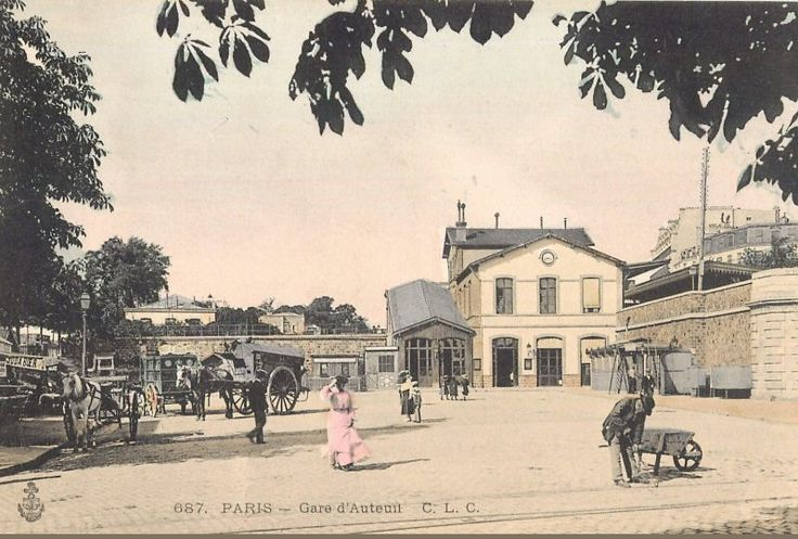 La paisible gare d'Auteuil-Boulogne, vers 1900  (Paris 16ème)