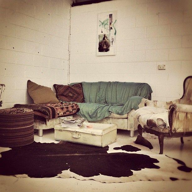 Cozy mc-cozy room! *Excluding the cow skin rug.