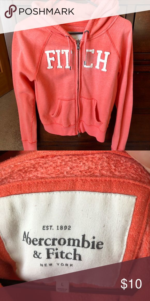 Abercrombie and Fitch jacket Excellent used condition, pretty bright orange color! Abercrombie & Fitch Jackets & Coats