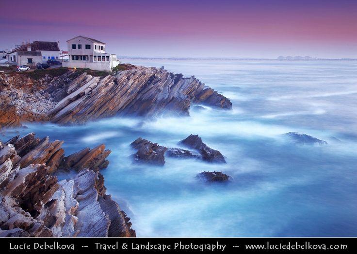 Portugal - Peniche - Sunset over Unusual Cliffs at Baleal Peninsula