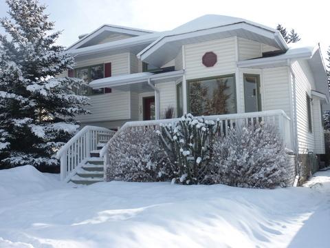 Intercambio de casa muy invernal en #Canada, en el estado de Alberta, el corazón de las Rocky Mountains.