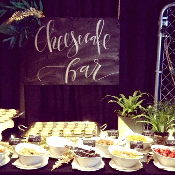 Cheesecake Bar - Friday night parties at ALT  @loverly @BeBrightPink @davidsbridal