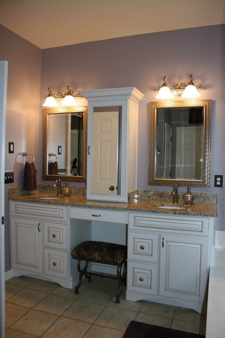 This Vanity From Our Koch Classic Cabinet Line The White Cabinets Ginger Highlights
