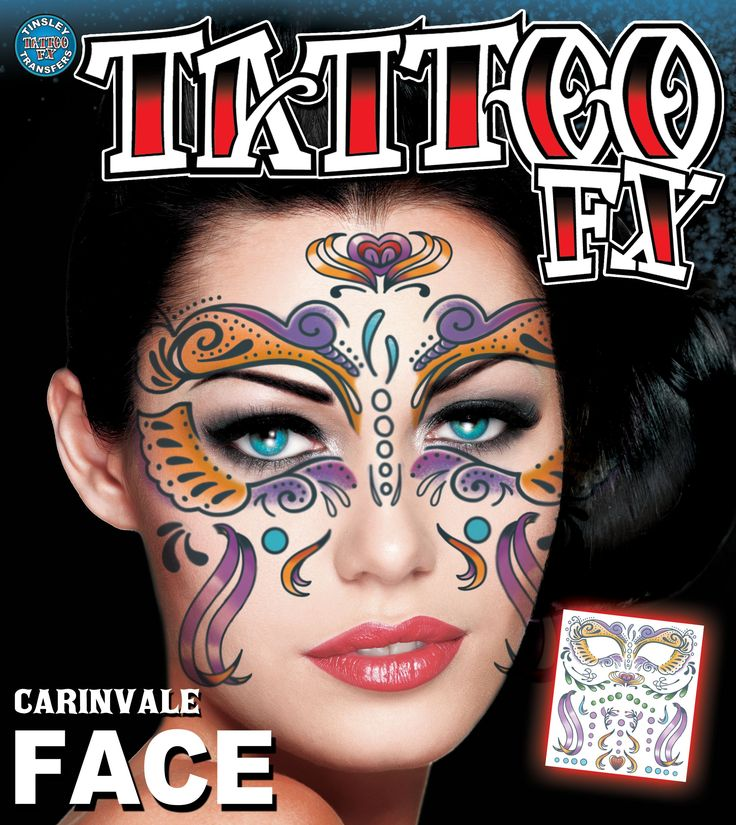 10 best face tattoos images on pinterest facial tattoos for Face tattoo makeup
