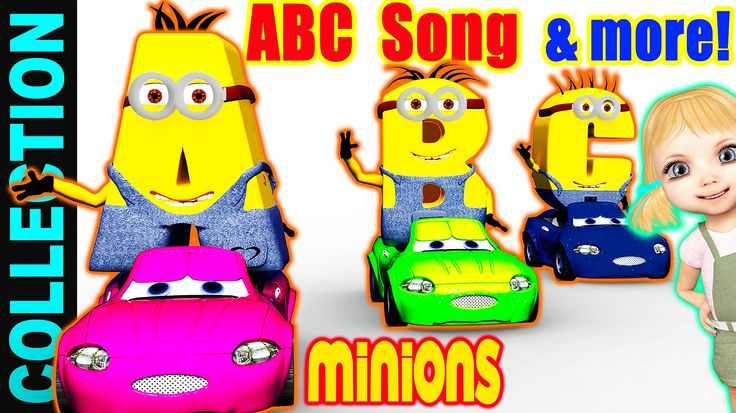ABC Song with minions  This is a fabulous non-stop collection of the ABCD alphabet song and many more fun videos for children and babies.