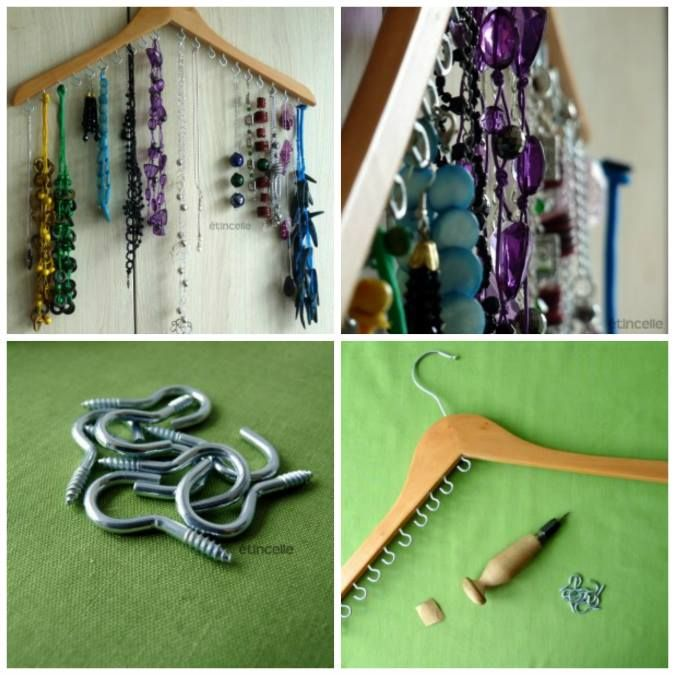 DIY-  Incredible Jewelry Hanger - http://www.amazinginteriordesign.com/diy-incredible-jewelry-hanger/