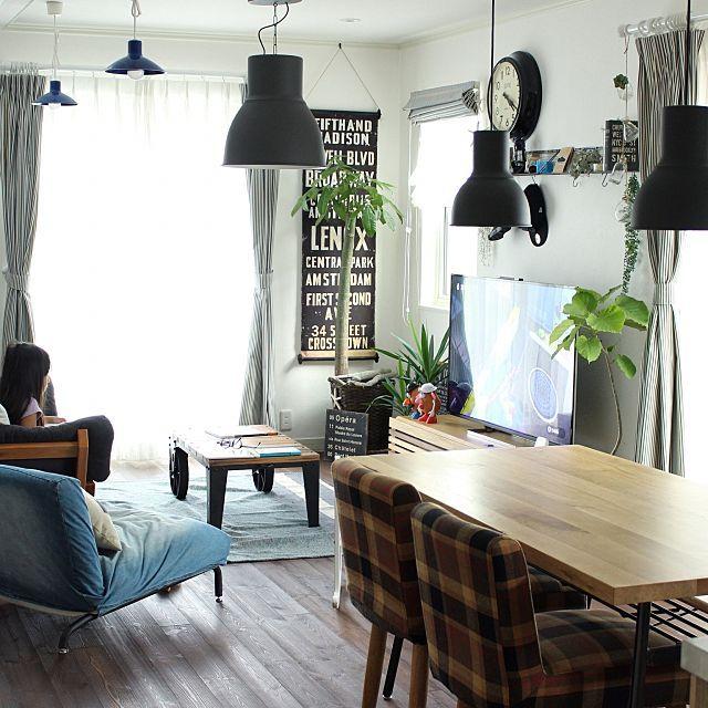 リビングダイニング 観葉植物のまとめページ   RoomClip (ルームクリップ) リビングダイニングと観葉植物と木の家具のインテリア実例