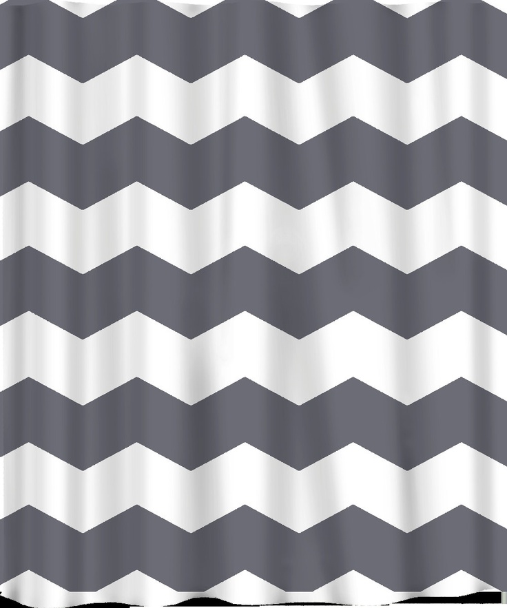 Custom Chevron Shower Curtain - Extra Wide 6 inch stripes - Available ...